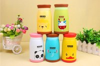 260ml Cute Animal Style Thermos Acier inoxydable Vacuum Cup Portable Kids Water Bottle Vacuum Flasks Livraison gratuite