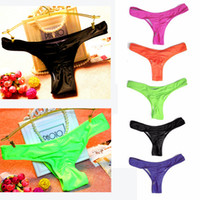 Wholesale Tanga Bikinis Swimwear - Women's Sexy Swimming Trunks Brazilian Style Bikini Swimwear Bathing Suit Semi Tanga Thong Bottom With Drape
