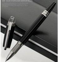 Wholesale Hot Sale Supplies - Luxury MT pens for MB black resin and metal grid Roller ball pen with high quaity school office supplies Hot sale writing smooth brand pens