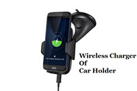 Wholesale Wireless Cell Phone Car Charger - Qi Wireless Chargers Multi-Funtion cell Phone Mount Holder Fast Wireless Charging Car Chargers For Samsung Galaxy Note5 S6 S7 Edge Plus