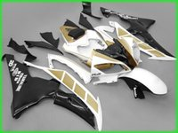 Wholesale Injection Yamaha R6 - 4 Free Gifts New Injection ABS Fairing kit 100% Fit for YAMAHA YZFR6 08 09 10 11 12 13 14 15 YZF R6 2008-2015 YZF600 Fairings Set gold black