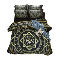 Wholesale Circle Duvets - Magic Circle Chinese Tai Chi Printing Bedding Sets Twin Full Queen King Size Fabric Cotton Bedclothes Duvet Covers Pillow Shams Comforter