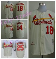 Men st mikes - St Louis Cardinals Mike Shannon Jersey Vintage Ken Boyer Mark McGwire Baseball Jerseys Cooperstown Throwback Yellow Grey