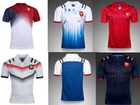 Wholesale Australia Free - Top Thai quality New 2017 France White Blue home away rugby jerseys 2017 2018 Australia France rugby shirts size S-3XL Free Shipping