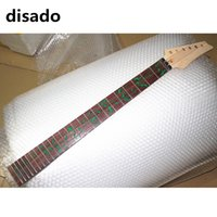 Wholesale Fingerboard Woods - disado 24 Frets maple Electric Guitar Neck rosewood fingerboard inlay green tree of life wood color Guitar Parts accessories