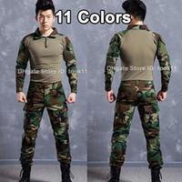 Wholesale Emerson Shirt Pants - Army military uniform german acu multicam camo combat shirt + emerson tactical pant kryptek mandrake camouflage suit paintball equipment acu