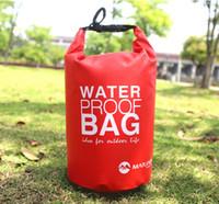 Wholesale dry bag 2l - 2L Small waterproof bucket bag drift waterproof portable sundries bag Dry Bag Waterproof Roll Top Sack Beach Hiking Kayak Fishing Camping