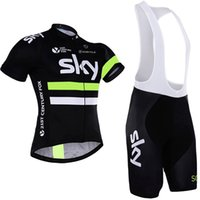 Wholesale Tour France Tops - 2016 Tour De France Sky Team Cycling Jersey Quick Dry Bike Wear pro team green sky jersey Short sleeve cycling tops clothing