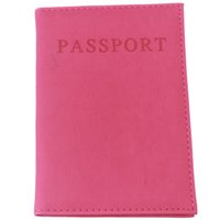 Atacado- HENGSONG Moda Faux Couro Travel Passport Holder Cover ID Card Bag Passaporte Wallet Protective Sleeve Storage Bag RD838528