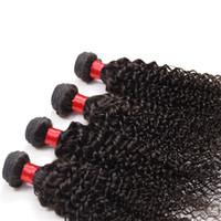 Wholesale Malaysian Weave Uk - malaysiann kinky curly hair 4pcs tissage bresilienne lots 4 100% brazilian indian cambodian peruvian kinky curly remy hair weave uk