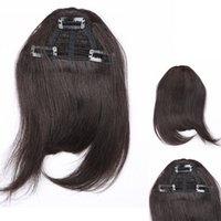 Wholesale Clip Bang Brazilian Hair - Clip In On Human Hair Bangs Hair Fringe 3 clips Franja Aplique Cabelo Blonde Hair Piece Hairpiece Extensiones