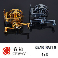Wholesale Coil Reel - Flying Reel HP-55 Left Right CEWAY All Metal Fish Coil Fly Fishing Reel Tackle Equipment Variable Speed Ice Fishing Reel New FREE