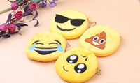 Wholesale Wholesale Cute Coin Purses - 2017 New Hot expression Coin Purses cute emoji coin bag plush pendant High quality free shipping