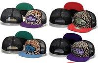 Wholesale Trucker Hat Style Men - 2017new style Leopard Camouflage Mesh Baseball Cap Women Hip Hop Fashion gorras Van cap Bone Snapback Hats for Men Casquette Trucker dad Hat