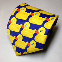 Wholesale Novelty Rubber Ducks - Hot Sale High Quality Barney's How I Met Your Mother Ducky Tie Yellow Rubber Duck Necktie