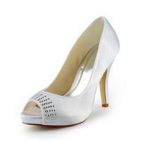 70a6d1a80c1846 2015 Women Silver Custom big size wedding shoes crystals rhinestones bridal  wedding Peep toe shoes Diamond Shoes Party Prom High Heels shoes