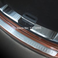 Wholesale Car Rear Bumper Protectors - Stainless Steel Rear Bumper Trunk Threshold Door Sill Protector Cover Trim for Nissan X-Trail T32 Rogue 2014 2015 Car Accessory