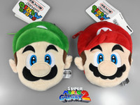 Wholesale Mario Wallets - Super Mario Bros Coin Purse kids Accessories Mario Luigi Plush Stuffed Wallet Multi-functional Baby Cartoon Plush Bags Toys