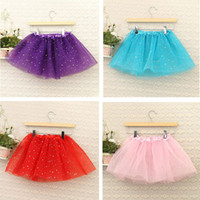 ingrosso pannello esterno a petticoat nero di ginocchio-Estate Toddler Girl Shiny Princess Gonna Dance Party Tulle Gonna sottoveste Bambino neonato Gonne garza TuTu Gonna Costumi