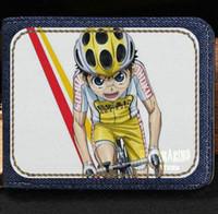 Wholesale Vintage Cycling Shorts - Glory road wallet Onoda sakamichi cartoon purse Animation cycle racing short cash note case Money notecase Leather burse bag Card holders