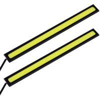 araba bar ışıkları toptan satış-2 adet / grup 17 CM LED COB DRL Gündüz Koşu Işık Su Geçirmez DC12V Harici Led Araba Styling Araba Işık Kaynağı Park Sis Bar Lambası