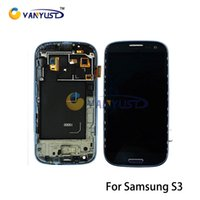 Wholesale S3 Display Screens - Grade A+++ LCD Display Touch Digitizer Complete Screen Panels Full Assembly With Frame For Samsung Galaxy S3 i9300 i9305 i747 i535
