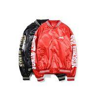 chaqueta estilo cardigan de niño al por mayor-Estilo japonés Harajuku Vintage Hiphop Pilot Jacket Stand Collar Chaquetas con capucha Chaqueta de la motocicleta Otoño Popular Boy's Baseball Jacket