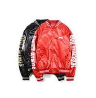 жакет для мальчиков кардиган оптовых-Японский Harajuku стиль старинные хип-хоп пилот куртка стенд воротник кардиган толстовки мотоцикл куртка осень популярные мальчик Бейсбол куртка