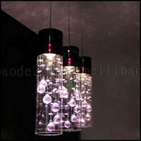 Wholesale Crystal Glass Lamp Shades Pendant - Glass Shade Crystal Ceiling Lighting Pendant Lamp Light x 3 (Purple Clear) LLWA226