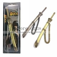 Wholesale Swords Costumes - Wholesale-The Lost Tomb Kylin Zhang Swords Modelling keychain Pendant Cosplay Ornaments