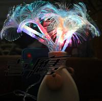 luces de cadena de fibra óptica al por mayor-2.5M 10LED Morning Glory Batería de fibra óptica LED String Strip Luz de la noche Lámpara Fiesta de Navidad BODAS DE NAVIDAD Cortina de luz LED