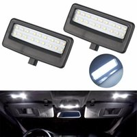 Wholesale Led Light For Mirror Car - 2Pcs Car Styling Auto LED Vanity Mirror Lamp Reading Lights Bulbs for BMW F10 F11 F07 F01 F02 F03 5 Series 7 Series Xenon White