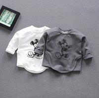 Wholesale Sale Boys Tshirts - 2017 hot sale 0-1 year old baby clothes spring autumn mouse pattern long sleeve boys tshirts