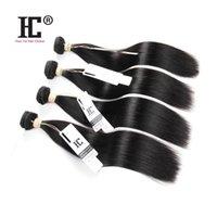 perulu saç ücretsiz gönderim toptan satış-Perulu Bakire Saç Düz 7A İnsan Saç Dokuma% 100% Işlenmemiş Perulu Düz Saç 4 Demetleri Ücretsiz Kargo HC Saç