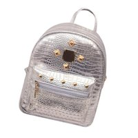 Wholesale Gold Wash - School Backpacks New College Wind Schoolbag Washed Leather Backpack Women Gold Velvet Small Rucksack Book Shoulder Bag