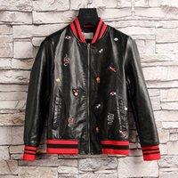 Wholesale Brand Men Leather Coat - 2018 Europe and the United States new brand winter men's jacket coat leather # 105