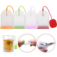 Wholesale Kitchen Mesh Strainer - Silicone Tea Strainer Herbal Spice Infuser Filter Diffuser Mesh Loose Spice Herbal Tea Bag Kitchen Accessories 300pcs OOA3430