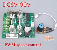 Wholesale Computer Fan Controllers - Wholesale- DC 6V-12V-90V 15A computer Water cooling motor water pump fan pwm Infinitely adjustable speed Voltage controller regulator