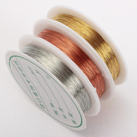 0.3-1.0mm Copper Wire To Bead Diy Bracelet Earring Faire Cordons perles Fil Schmuckdraht Bijou Brass Rope