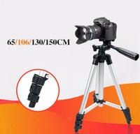 evrensel profesyonel ayak sehpası toptan satış-106 cm Profesyonel tripod Evrensel Taşınabilir Dijital Kamera Kamera Tripod Canon Nikon Sony Için Hafif Alüminyum Standı