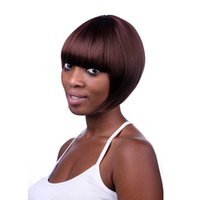 Wholesale Complete Clothes - 2017 New fashion Bob's high quality beauty fashion Women Short Wig COSPLAY clothing complete natural red wig head Machine making wig