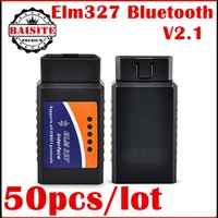 50pcs 2017 ELM 327 V 2.1 adaptador BT funciona no Android Torque Elm327 Bluetooth V2.1 Interface OBD2 / OBD II Auto Car Diagnostic-Scanner