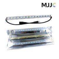 Wholesale Flashlights Led Strip - 100PCS X 1M 60 SMD 5050 LED Rigid Strip Light Bar Lamp Warm Cool White Under Cabinet Lighting + 3M Adhesive Tape on Back Side