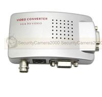 Wholesale Bnc Vga Free Shipping - Free Shipping VGA to BNC and S-Video Video Converter Adapter
