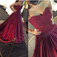 Wholesale Champagne Cocktail Dresses Sweetheart - Cheap 2016 Prom Dresses Sexy A-Line Sweetheart Sleeveless Lace Top Evening Wear Formal Cocktail Party Dress Custom Made Gowns