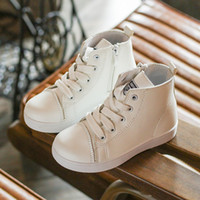 Wholesale China Children Shoe Wholesalers - EUR Size 21-35 China Flat School Shoe For Boys Girls Children Casual White Leather Shoe