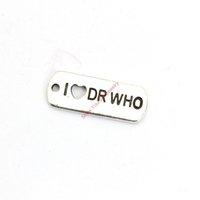 dr ювелирные изделия оптовых-Античная посеребренная я люблю DR кулон подвески для браслета ювелирных изделий DIY ожерелье ремесло