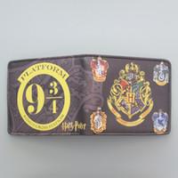 Wholesale Wallet Badges - Harry Potter Wallets With Small Zipper Pocket Men Wallet Coin Bag Credit Card Holder Hogwarts Badge Designer Wallet For Student 002