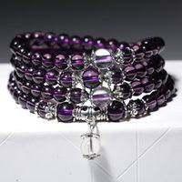 Japão e Coréia do Sul Fashion Amethyst Multi-circle Beads Beads Bracelet Models Jewelry