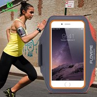 Wholesale Iphone Accessories Running - FLOVEME Sport Arm Band Case For iPhone 6 6S For iPhone 6 Plus 6S Plus Outdoor Waterproof Running Gym Phone Cover Coque Accessory
